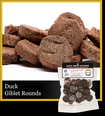 Duck Giblet Rounds, 3.5 oz.