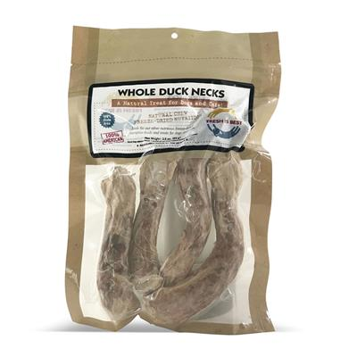 Whole Duck Necks, 4-per package 3.5 oz.