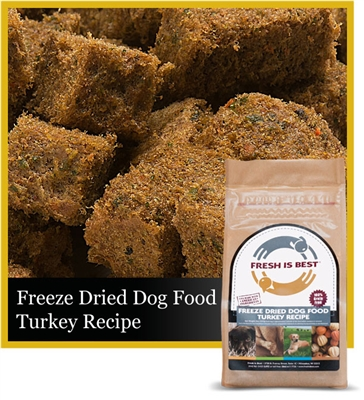 Freeze Dried Turkey Dog Food, 8 oz.