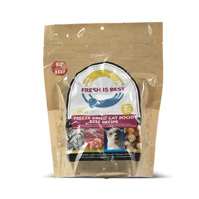 Freeze Dried Beef Cat Food, 8 oz.