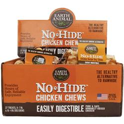Earth Animal No Hide Chicken Chews Dog Treats, 27 Count Display Box