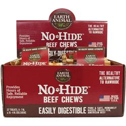 Earth Animal No Hide Beef Chews Dog Treats, 27 Count Display Box