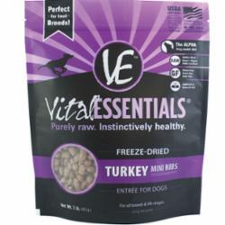 Vital Essentials Freeze Dried Turkey Nibblets for Dogs - 16 oz