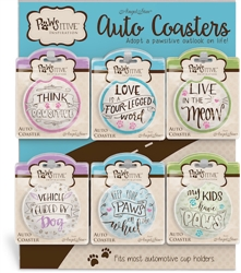 Pawsitive Inspiration Auto Coaster Assortment