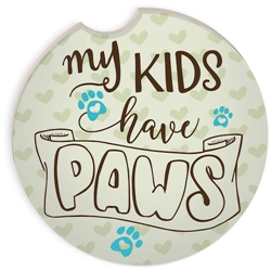 Pawsitive Auto Coaster - My Kids Have Paws