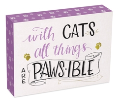With Cats…. Wall Plaque