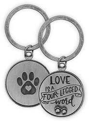 Pawsitive Key Chain - Love is a Four-Legged Word