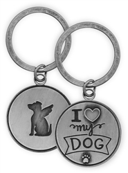 Pawsitive Key Chain - I Love My Dog