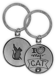 Pawsitive Key Chain - I Love My Cat