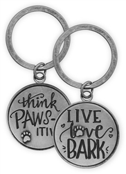 Pawsitive Key Chain - Live. Love. Bark