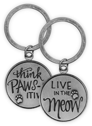 Pawsitive Key Chain - Live in the Meow
