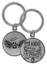 Pawsitive Key Chain - My Kids Have Paws