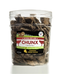 Beef Lung CHUNX Cheese 1lb Tub
