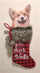 I Bark Xmas Stocking NEW