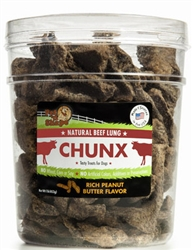 Rich Peanut Butter 1lb Tub - Natural Beef Lung CHUNX